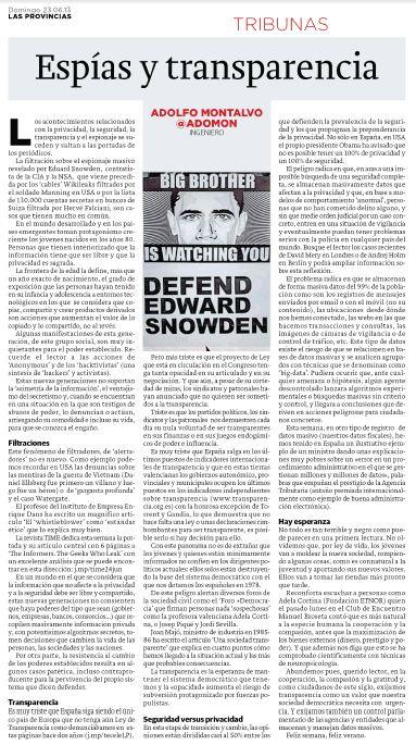 LP Espias y transparencia articulo
